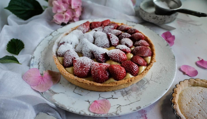 Ανοιξιάτικη Τάρτα Με Φράουλες