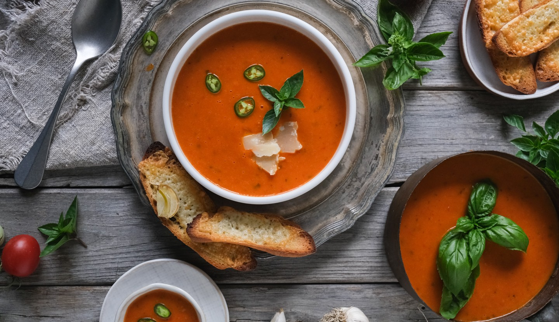 Φθινοπωρινή ντοματόσουπα